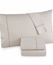 Hotel Collection 525 TC 100 Cotton Champagne Printed Twin Sheet Set
