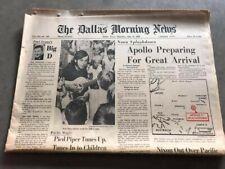 Dallas Morning News Newspaper - July 24, 1969 - Apollo Arrival