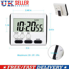 Magnetic Kitchen Count up Down Digital LCD Timer For Cooking Study UK in Stock
