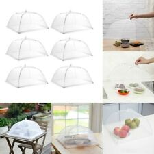 New listing 6pcs Food Cover Dome Large Collapsible Mesh Umbrella Fly Net Pop Up Plate Usa
