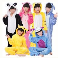 Déguisement doux animal Pyjama Combinaison Enfant Fille Garçon vêtements de nuit