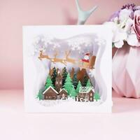 3D up Tree Box Christmas Tree Greeting Card Gift Merry Christmas E7T2