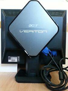 """Acer Veriton N281G PC Intel Atom 1.8GHz 2GB RAM 320GB HDD Win10 17"""" Monitor PSU"""