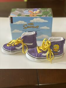 Vans Sk8 Hi Zip Kids Shoes Size 11 The Simpsons Lisa For President High Top