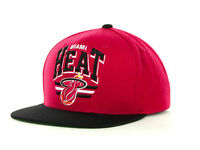 Miami Heat Mitchell & Ness NBA Hardwood Classics Adjustable Snapback Cap Hat
