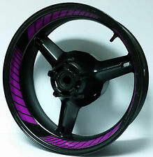 PURPLE VIOLET CUSTOM INNER RIM DECALS WHEEL STICKERS STRIPES TAPE GRAPHICS KIT