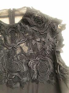 Beautiful Monsoon Dress Black Size 16 vgc