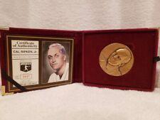 GORGEOUS Cal Ripken, Jr. Highland Mint Bronze Magnum Series Medallion, NICE!!