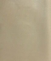 Vinyl Faux Leather Perforated Light neutral  commercial grad upholstery ROLLED