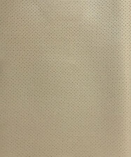 Vinyl Faux Leather Perforated Light neutral  commercial grad upholstery fabric