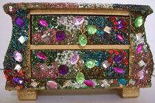 Artdeco Cómoda Mueble Creativo Brillante Caja De Plástico 2 Cajones Perlas