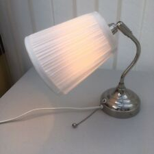 IKEA Arstid Decorative Wall Lamp Nickel Stainless Steel Plated with Cloth Shade