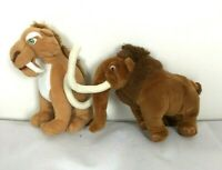 Ice Age TY Plush Soft Toy Rare Bundle - Manny Diego Wooly Mammoth Sabor Tooth