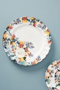 Anthropologie Botanica Dinner Plate NEW Floral Scalloped Botanical Stonewear