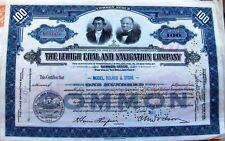 LEHIGH COAL & NAVIGATION COMPANY stock cerificate 100 Shares Pennsylvania