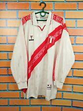 Peru Jersey 2000 2002 Home L Long Sleeve Shirt Walon Football Soccer