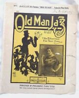 Old Man Jazz,Gene Quaw,1920.Jennie Hartley/J&N Tait *RARE AUS variant Sheet Msc