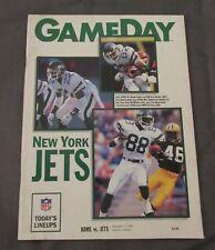 1989 Los Angeles Rams vs. New York Jets Program Al Toon