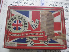 NIB NEW Dominoes & TIP TOWER SET WITH BOOKCASE LOOK STORAGE BOX