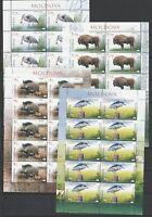 Moldova 2018 Fauna Animals, Birds MNH Full sheets