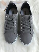 NWT Gymboree Boy Gray Sneakers Lace up Shoes Sz 2.~Free Shipping!