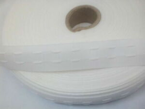 10 Metres 1.2 inch 30 mm Wide Curtain Heading Header Tape Pencil Pleat White
