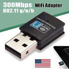 300Mbps Mini Wireless USB Wifi Adapter LAN Network Desktop Win7 8 XP 802.11n/g/b