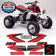 Yamaha Banshee Decals Sticker Reproduction Red And Black 1998 Full Set Design