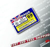Hoon Permit License Rego Sticker Decal JDM Funny Race Drift Car 4x4 4WD Straya