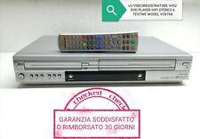 LG VIDEOREGISTRATORE VHS/DVD PLAYER ALTA QUALITÀ HIFI STEREO 6 TESTINE MP3 CD...