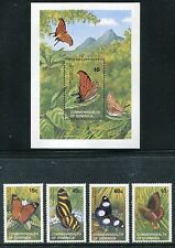 Dominica 768-772, MNH. Insects Butterflies 1989. x25096