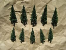 NEW ~ 10 Classic FIR (PINE) TREES by HEKI ~ N Scale Lot ~ Mayhayred Trains