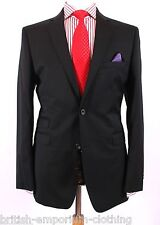 BNWT Holland Esquire Black GAB Classic Lapel Suit + H.Esq FREE SUIT CARRIER Uk36