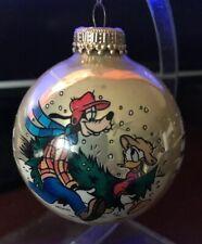 Vintage Goofy Disney Glass Christmas Ball Ornament Adorable GUC