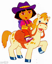 """6"""" inch Dora cowgirl horse nick jr wall sticker glossy border cut out character"""