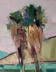 JOSE TRUJILLO Oil Painting IMPRESSIONISM CONTEMPORARY PALM TREES MODERN ARTIST