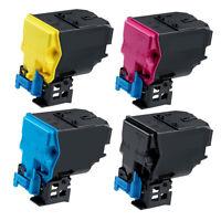 4 Pack Color Toner Cartridges for Konica Minolta Magicolor 4750DN 4750EN A0X5130