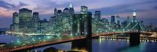 Brooklyn Bridge and Skyline Canvas Giclee Stretched Open Edition 18x54