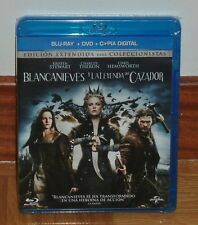 SNOW WHITE Y LA LEYENDA DEL HUNTER BLU-RAY+DVD SEALED NEW (UNOPENED)