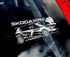 Skoda WRC - Car Window Sticker - World Rally Team - Fabia, VRS, Forum nt.Octavia