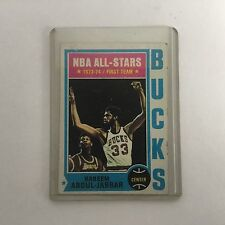 1974-75 TOPPS, KAREEM ABDUL -JABBAR, NBA All-Star - BUCKS