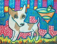 CHIHUAHUA Drinking a Martini Dog Pop Outsider Vintage Art 8 x 10 Signed Print