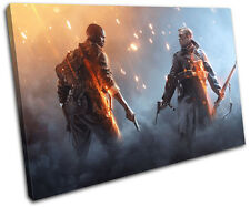 Battlefield One Army XBOX ONE PS4 Gaming SINGLE CANVAS WALL ART Picture Print