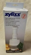ZYLISS FOOD CHOPPER 2000 Stainless Steel Blades SWITZERLAND in Box EUC