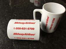 Collectible Vintage Coffee Mug & Bumper Sticker-Midway Airlines