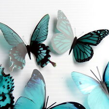 12 Pack Butterflies - Teal - 2 to 4 cm - Cakes, Weddings, Crafts, Cards,
