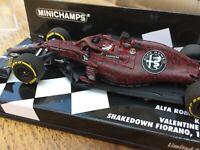 MINICHAMPS 417 199007 ALFA ROMEO SAUBER C38 F1 Test car Kimi Raikkonen 2019 1:43