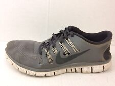 Nike Free 5.0 + Mens 9 Med Running Shoes Cool Grey Anthracite White 579959 001
