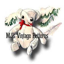 "Vintage 'Winter Wonderland' Christmas Pattern ~ Polar Bear, Teddy Bear 12"" tall"