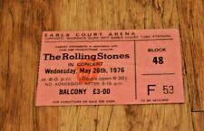 Rolling Stones ticket Earls Court Arena London UK 26 May 1976 - original - RARE